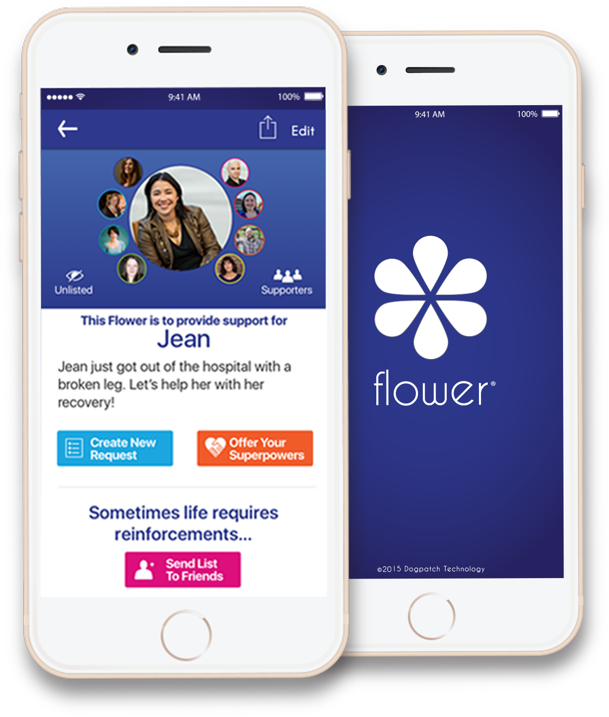 Flower app helps organizations gather support